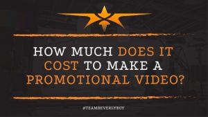 How much does it cost to make a promotional video. Top professional will work for you.