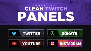 How to make twitch panels in photoshop. Recruit the job have it completed for you.