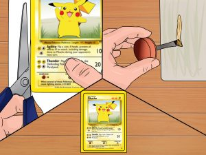 How to make custom pokemon cards. Contract the work to be completed for you.