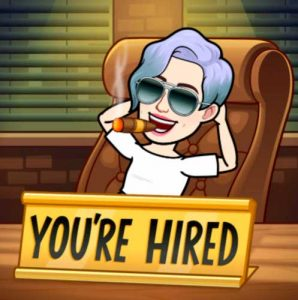 How to make your bitmoji talk. Recruit the job to be made for you.