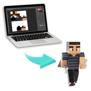 Minecraft make your own skin. Hires the job to have it done for you.