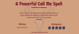 Spells to make someone want you sexually. Who is the profesional who may help me?